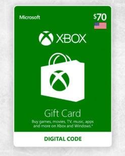 Xbox Live Cash 70 usd
